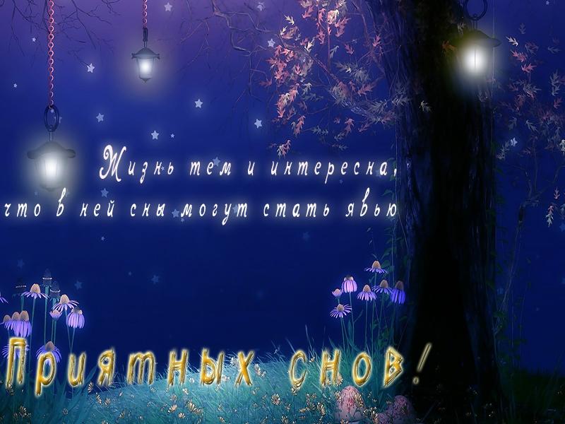 Пожелание приятных снов