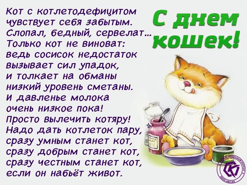 С днем кошек открытка