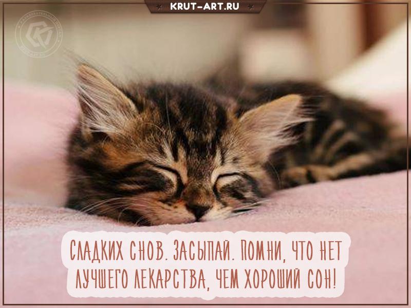 Картинка засыпай, сон — это лучшее лекарство